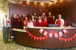 United Group corporate Go Red team