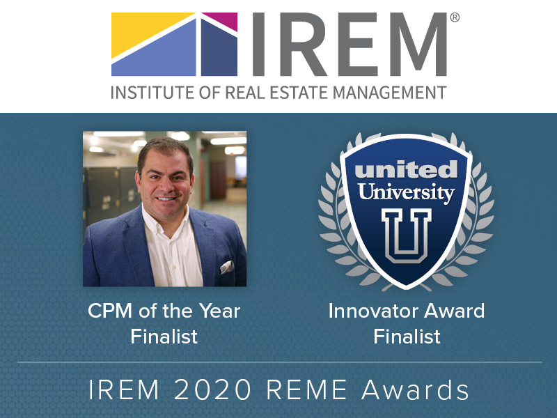 DiGiacomo & United University Named Finalists For IREM REME Awards