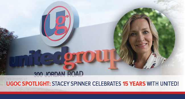 UGOC SPOTLIGHT: UNITED GROUP CELEBRATES STACEY SPINNER'S MILESTONE 15 Year WORK ANNIVERSARY