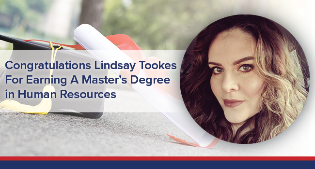 UGOC Spotlight: Lindsay Tookes Earns Master's Degree in Human Resources