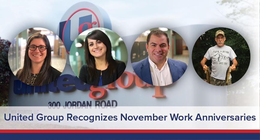 UGOC Spotlight: United Group Recognizes November Work Anniversaries